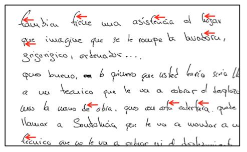 análisis de textos y firmas